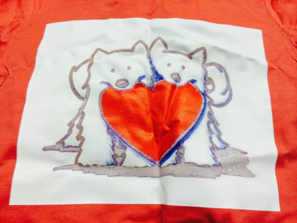 It doesn't look like the same quality print as shown on the website: http://www.cafepress.com.au/mf/45757864/japanese-spitz-heart-duo_tshirt?productId=591075716