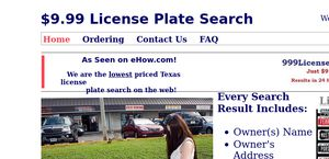 $9.99 License Plate Search