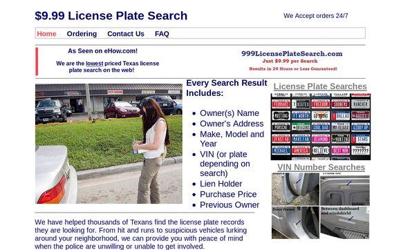 $9.99 License Plate Search