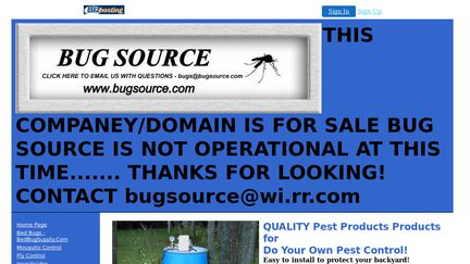 Bug Source