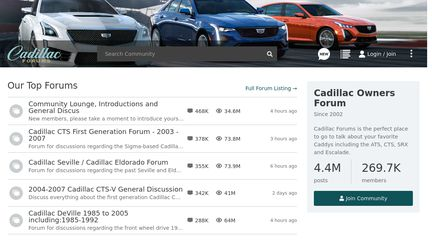 Cadillac Owners and Enthusiasts Forum