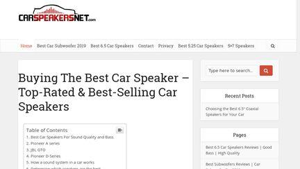 CarSpeakersNet