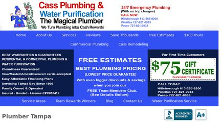 Cass Plumbing Tampa Bay