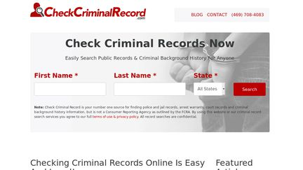 CheckCriminalRecord