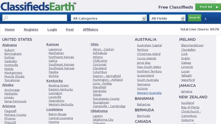 Classifieds Earth