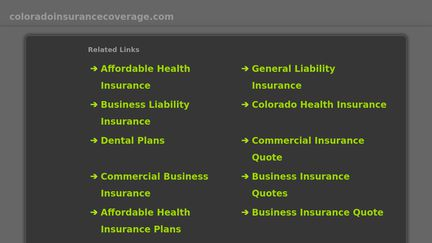 ColoradoInsuranceCoverage