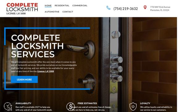 Complete Locksmith Services Plantation FL