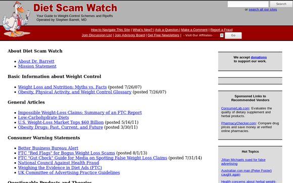 Diet Scam Watch