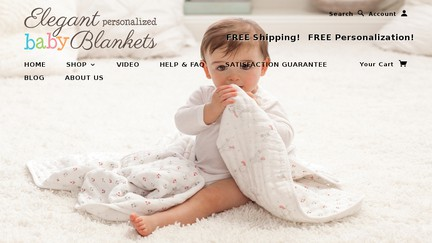 Elegant Personalized Baby Blankets