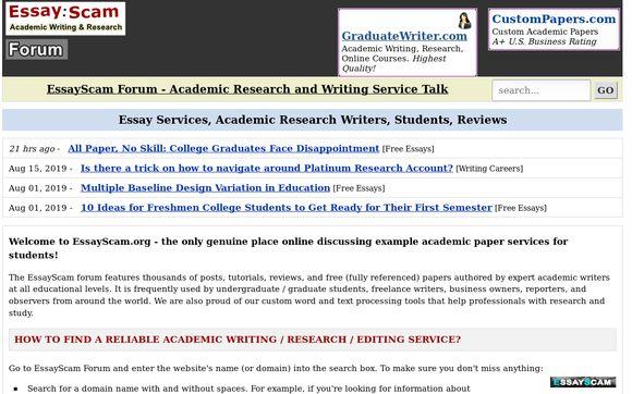 Essay : Scam