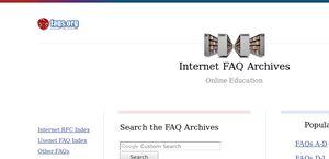 Internet FAQ Archives