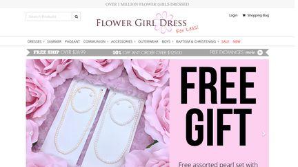 FlowerGirlDressForLess