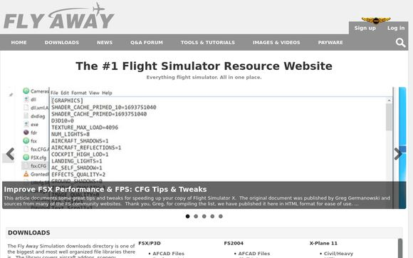 Fly Away Simulation