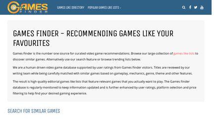 Games Finder