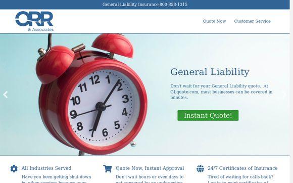 GLQuote Per Project Insurance