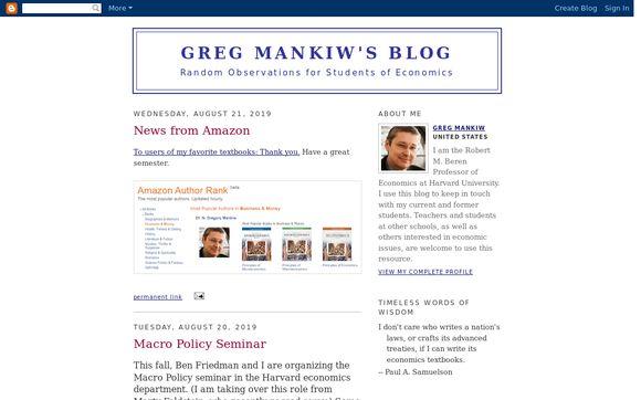 Greg Mankiw's Blog