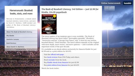 Homerunweb: Baseball books, stats, and more