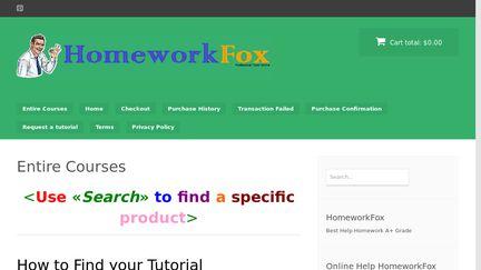 Homeworkfox.com