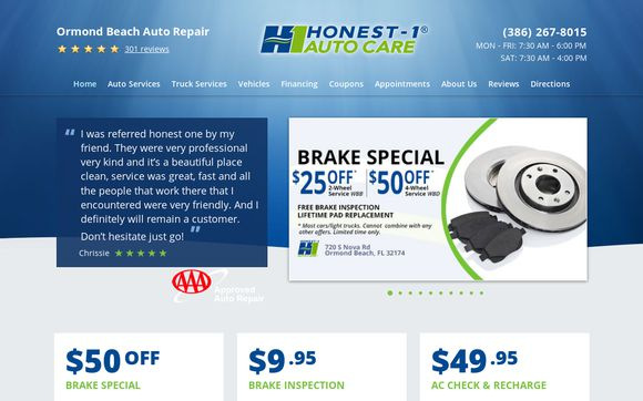 Honest 1 Auto Care Ormond Beach