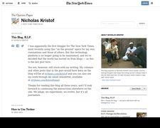 Nicholas Kristof Blog