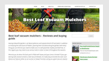 Leaf Vacuum Mulchers