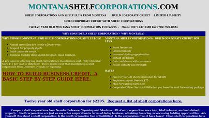 Montanashelfcorporations.com