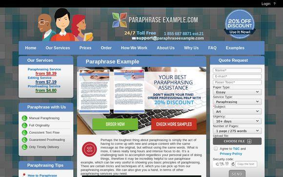 Paraphrase Example.com