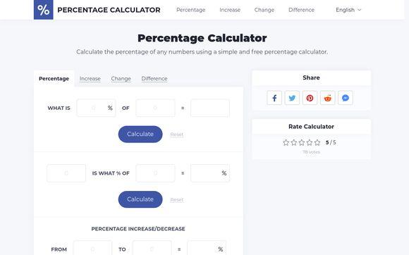 Percentagecalc.net