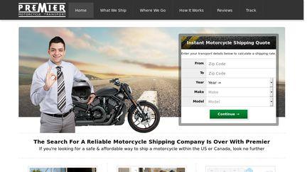 Premiermotorcycletransport.com