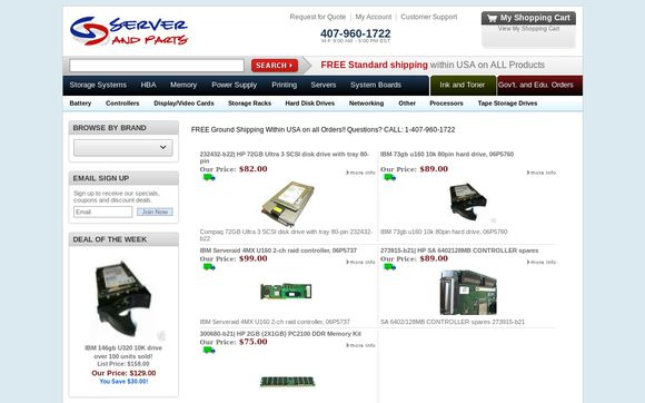 Server And Parts