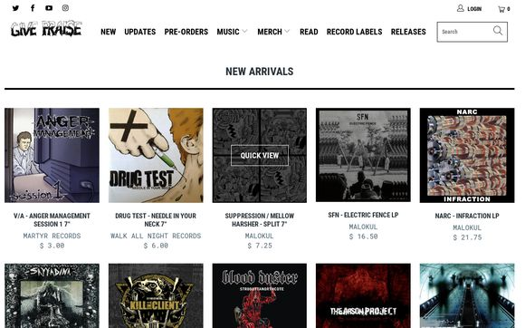 Avulsion Shop - Online Record Store