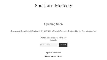 Southern Modesty