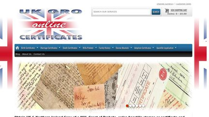 UK GRO Certificates Online