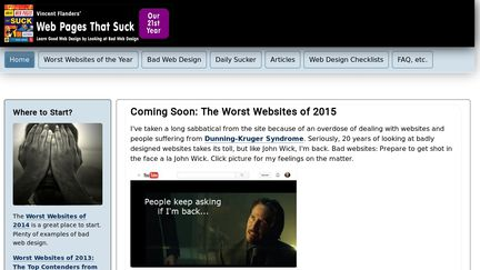 Web Pages That Suck