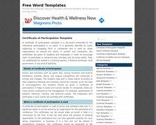 Free Word Templates