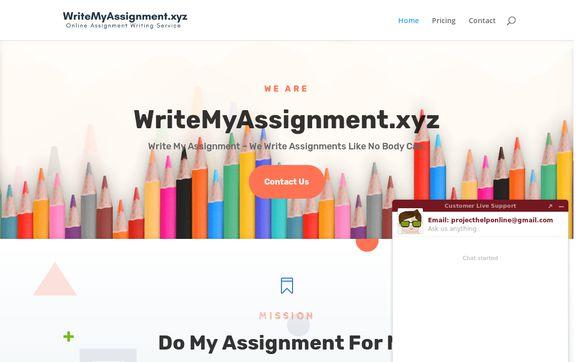Writemyassignment.xyz