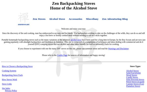 Zen Backpacking Stoves